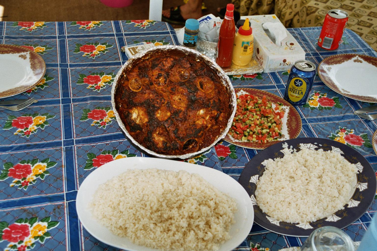 Nilbarsch mit Reis