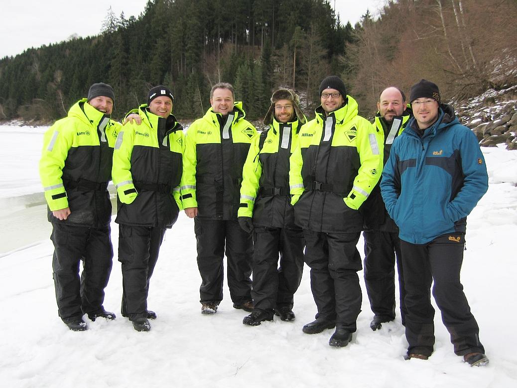 v.l.n.r.:  Willi, Reini, Karl, Jürgen, Rudi, Max und unser Guide Bernhard