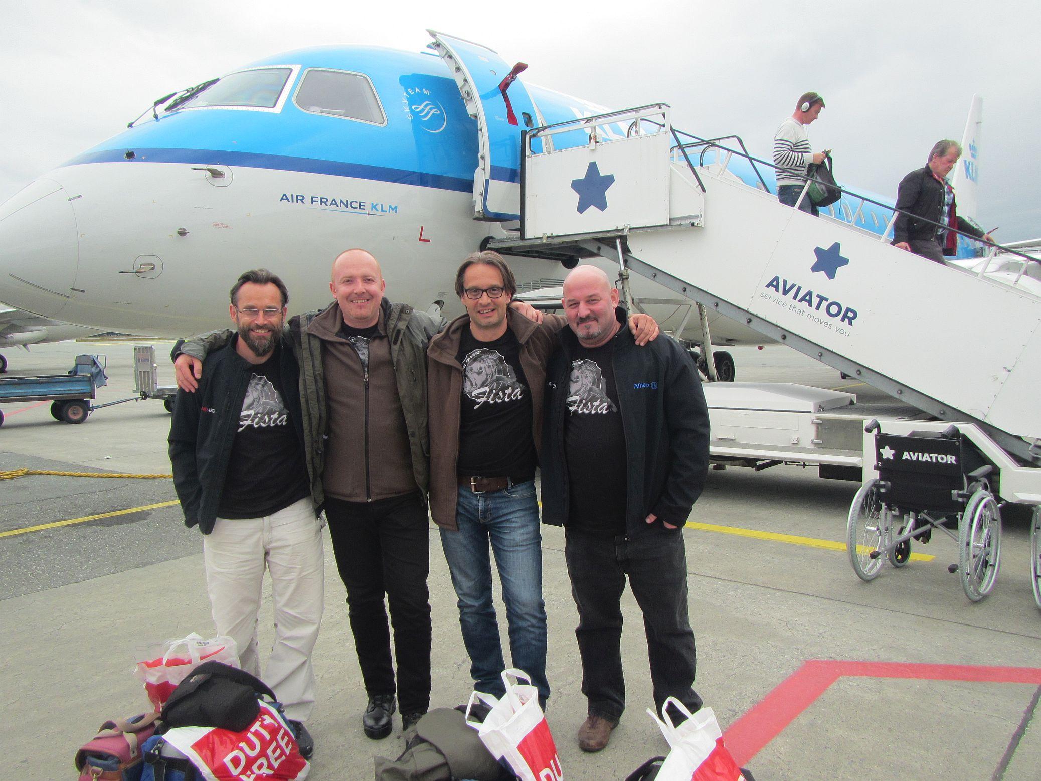 Team FLATANGER 2015 v.l.n.r.: Jürgen, Willi, Rudi und Max