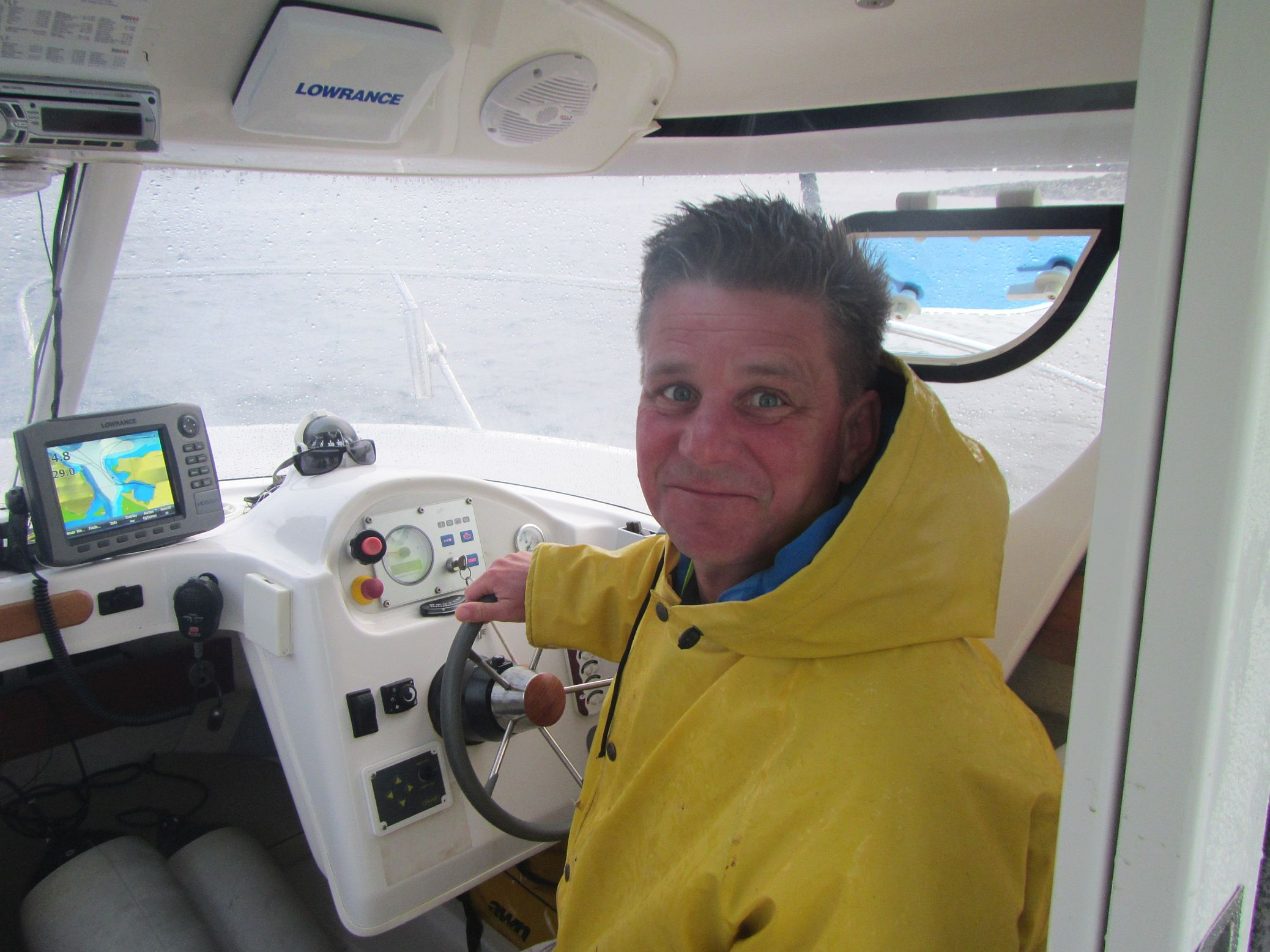 Stefan Voigt auch bei Schlechtwetter gut drauf